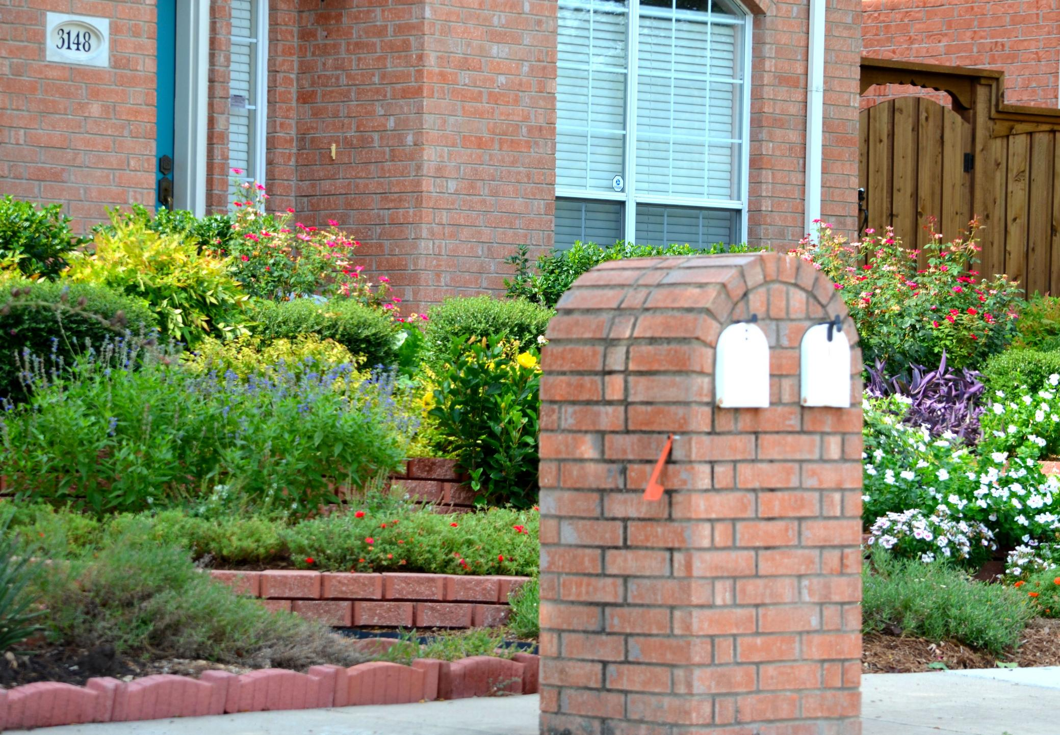 This is a picture of a brick mailboxes.