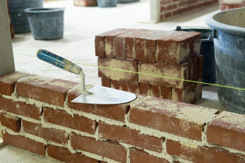 This is a picture of a brick and mortar repair.