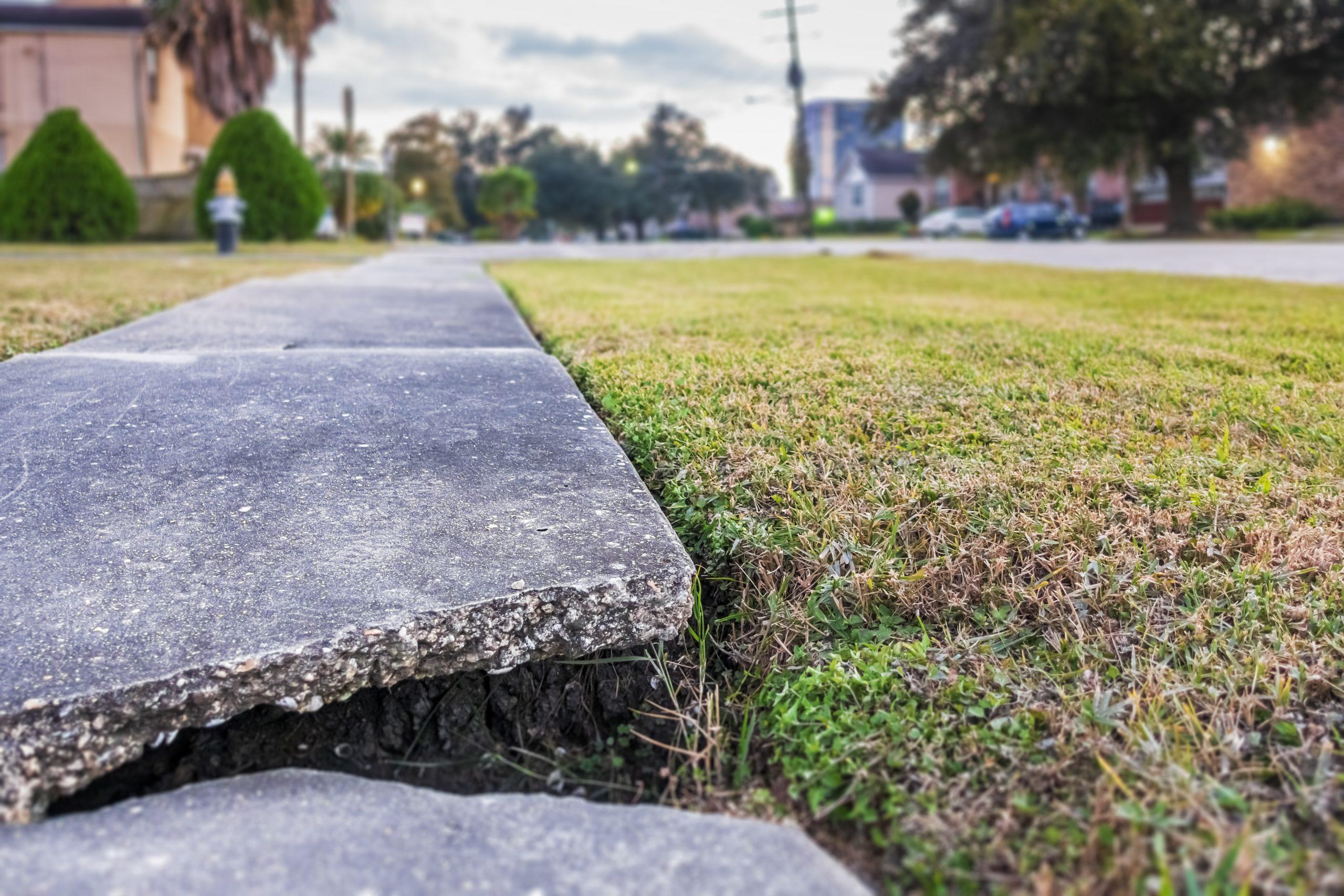 cracked side walk